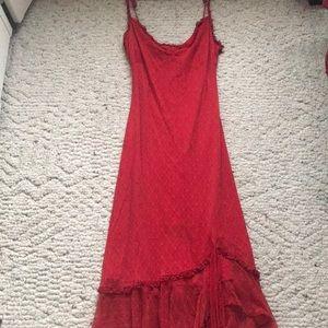 Red lace Betsey Johnson Dress